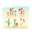 people on the beach vector image vector image