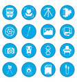 photography set icon blue vector image vector image