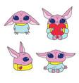 pink alien character vector image vector image
