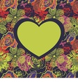 postcard with heart vector image vector image