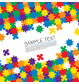 puzzle cover art vector image vector image