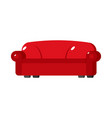 red sofa isolated big large soft couch on white vector image
