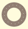 round ornamental brown colored frame isolated on vector image vector image