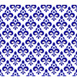 royal blue pattern vector image vector image