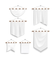 Set of realistic white textile banners vector image vector image