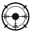 sniper elite aim icon simple style vector image