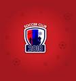 soccer club 2018 logo vector image
