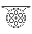 Spinning reel icon outline style vector image vector image
