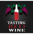 Tasting Red Wine poster vector image