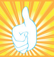 thumb up abstract background vector image vector image