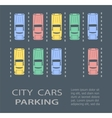 Top view city parking vector image vector image