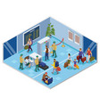 Travel people isometric composition