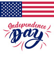 united stated independence day lettering fourth vector image vector image