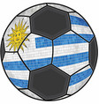 uruguay flag with soccer ball background vector image