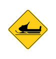 usa traffic road signssnowmobiles cross vector image vector image