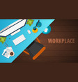 workplace office co-working centre university vector image