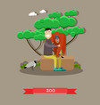 zoo concept in flat style vector image vector image