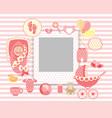 baby girl set vector image
