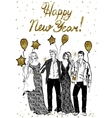 happy celebrating people vector image