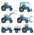 agricultural tractor set 2 vector image