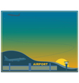 Airport at sunset vector image