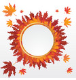 Autumn leaves round label