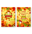 autumn of fall seasonal sale and discount promo vector image vector image