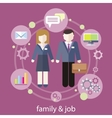 Balance between work and family life vector image vector image