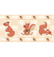 Border for wallpaper with squirrels vector image vector image