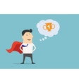 Cartoon businessman Super Hero character vector image