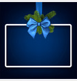Christmas background with blue bow