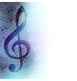 Classical music background vector image