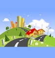 colorful abstract city vector image