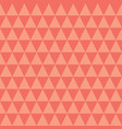 coral and peach triangles seamless pattern vector image vector image