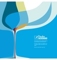 Cover for menu with wine glass vector image