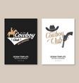 cowboy club poster flyer ranch rodeo vector image vector image