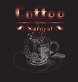 creative design for coffee vector image vector image
