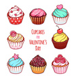Cupcakes for Valentines Day vector image vector image