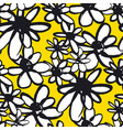 daisy flowers color seamless pattern vector image
