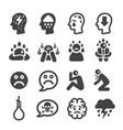 depression icon vector image vector image