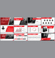 design element of infographics for presentations vector image