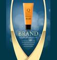 design of cosmetics advertising vector image