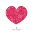 doodle hearts heart silhouette pattern frame vector image