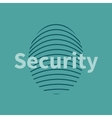 Fingerprint icon with security text vector image vector image