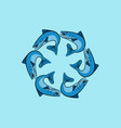 fish logo design template vector image