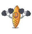 fitness canoe character cartoon style vector image