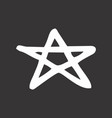 five pointed star vector image