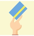 Flat Design Style Icon Hand Holds Credit Card vector image vector image