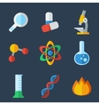flat icon science vector image vector image