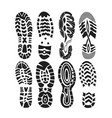 footprint sport vector image vector image